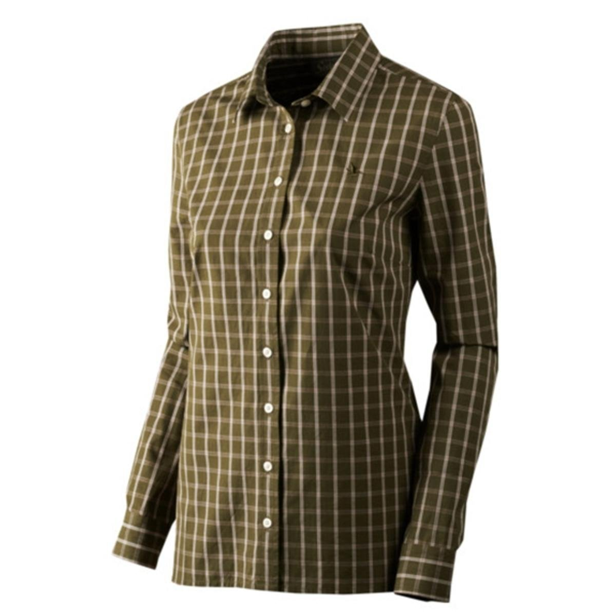 Seeland Beatrice Lady Shirt Primrose Check X-Small Green by Seeland (Image #1)