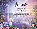 Gift Card Birthday Anniversary Keepsakes by TheNameStore | 100 unique colorful background art theme choices personalized with your name and it's meaning (Unicorn Rainbow)