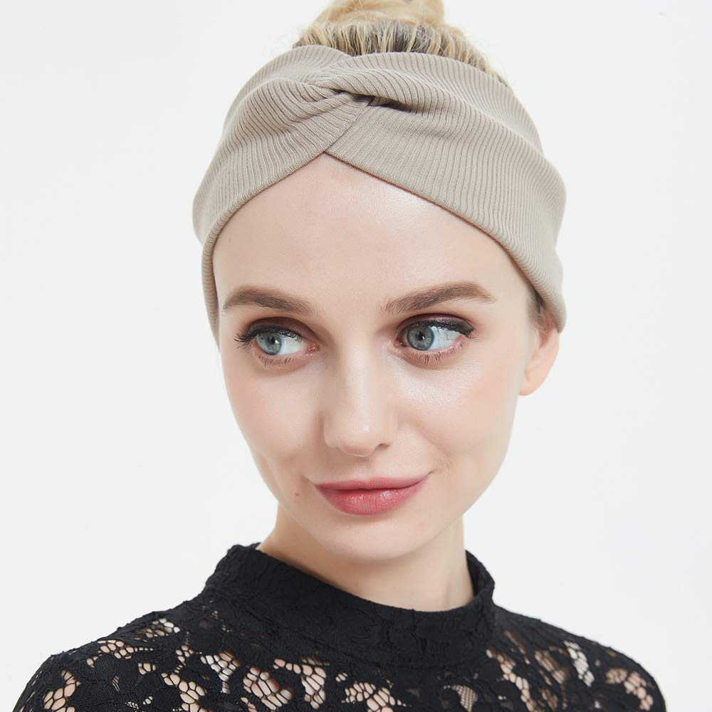 4pcs Diverse Styles Colors, 4pcs Boho Wide 2 TTzone Headbands Stretchy Soft Moisture Wicking Hairbands Fashion Charming Head-wrap for Sports and Casual