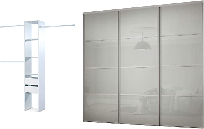 Pannelli Per Ante Scorrevoli.I Space Glp Storage Solutions Limited Kit Per Guardaroba Con 3