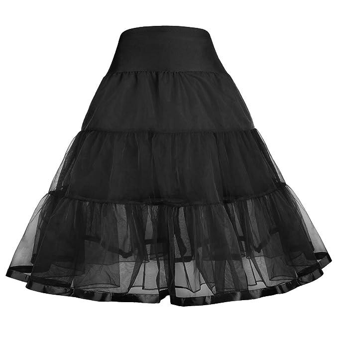 362390f18c GRACE KARIN Little Girl Voile Crinoline Tutu Petticoats(Long/Short ...