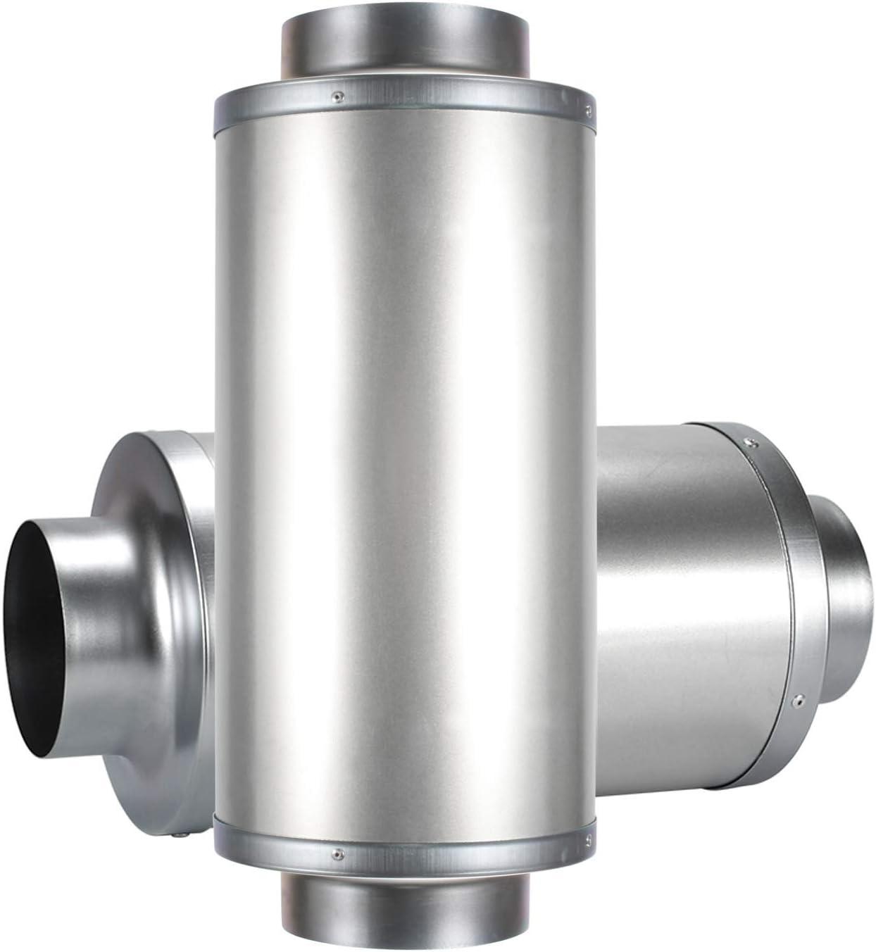 Schalld/ämpfer f/ür Abluftventilator Bel/üftungssystem Hon/&Guan Rohrschalld/ämpfer 100mm