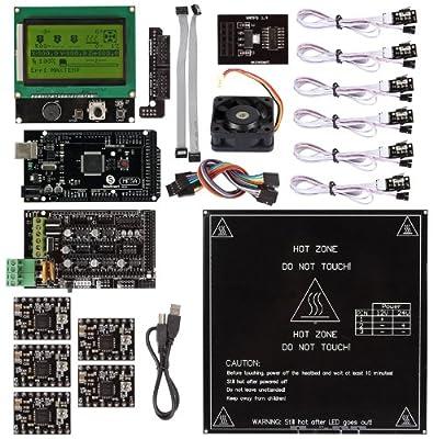 SainSmart Ramps 1.4 + A4988 + Mega2560 R3 + Endstop + LCD 12864 Kit For RepRap 3D Printer Arduino Mega2560 UNO R3