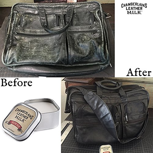 Leather Milk Leather Restoration Kit - Heal & Restore Antique Leather. Cleaner, Conditioner, Water Protectant, Healing Balm, Detailing Brushes, Pads, More! All-Natural. Made in USA by Chamberlain's Leather Milk (Image #7)