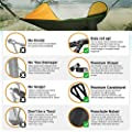 ETROL 2018 UPGRADED 2 Person Camping Hammock with Mosquito Net, Pop-Up Light Portable Double Parachute Hammocks, Swing Sleeping Hammock Bed with Net Tent for Outdoor, Hiking, Backpacking, Traveling
