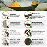 ETROL 2018 UPGRADED Large Camping Hammock with Mosquito Net, Pop-Up Light Portable Double Parachute Hammocks, Swing Sleeping Hammock Bed with Net Tent for Outdoor, Hiking, Backpacking, Traveling