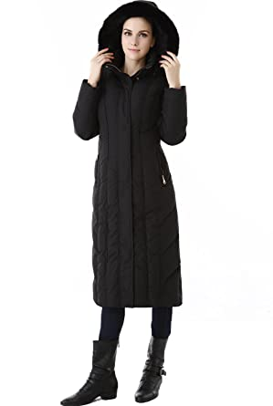 7cfb0d5484 BGSD Women's Tabby Water Resistant Hooded Maxi Down Coat - Black S ...