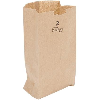 Bolsas de Lunch papel duro, Marrón: Amazon.com: Grocery ...