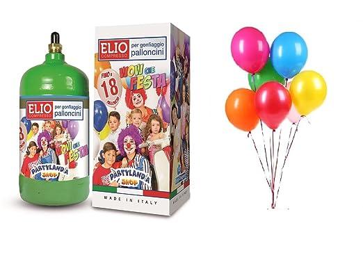 Bombona de helio desechable para inflar globos.