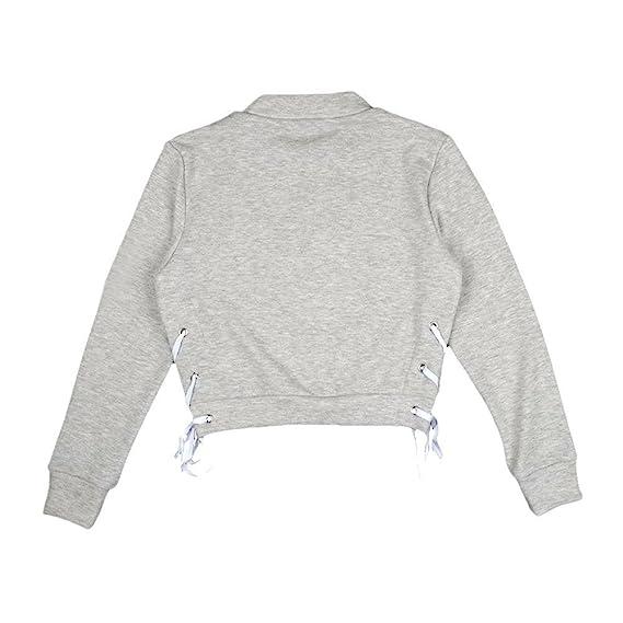 ZODOF Sudaderas Cortas con Capucha para Mujer, Hoodie Blusa Camiseta de Manga Larga de Empalme