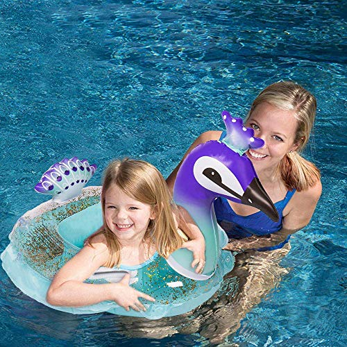 - HANMUN Pool Floats Pretty Peacock Swim Ring Kids Cute Pool Float for Toddlers Baby Fashion Swimming Ring 2019 Upgraded Version Heavy Duty Age 1,2,3, 4 Years Old ¡