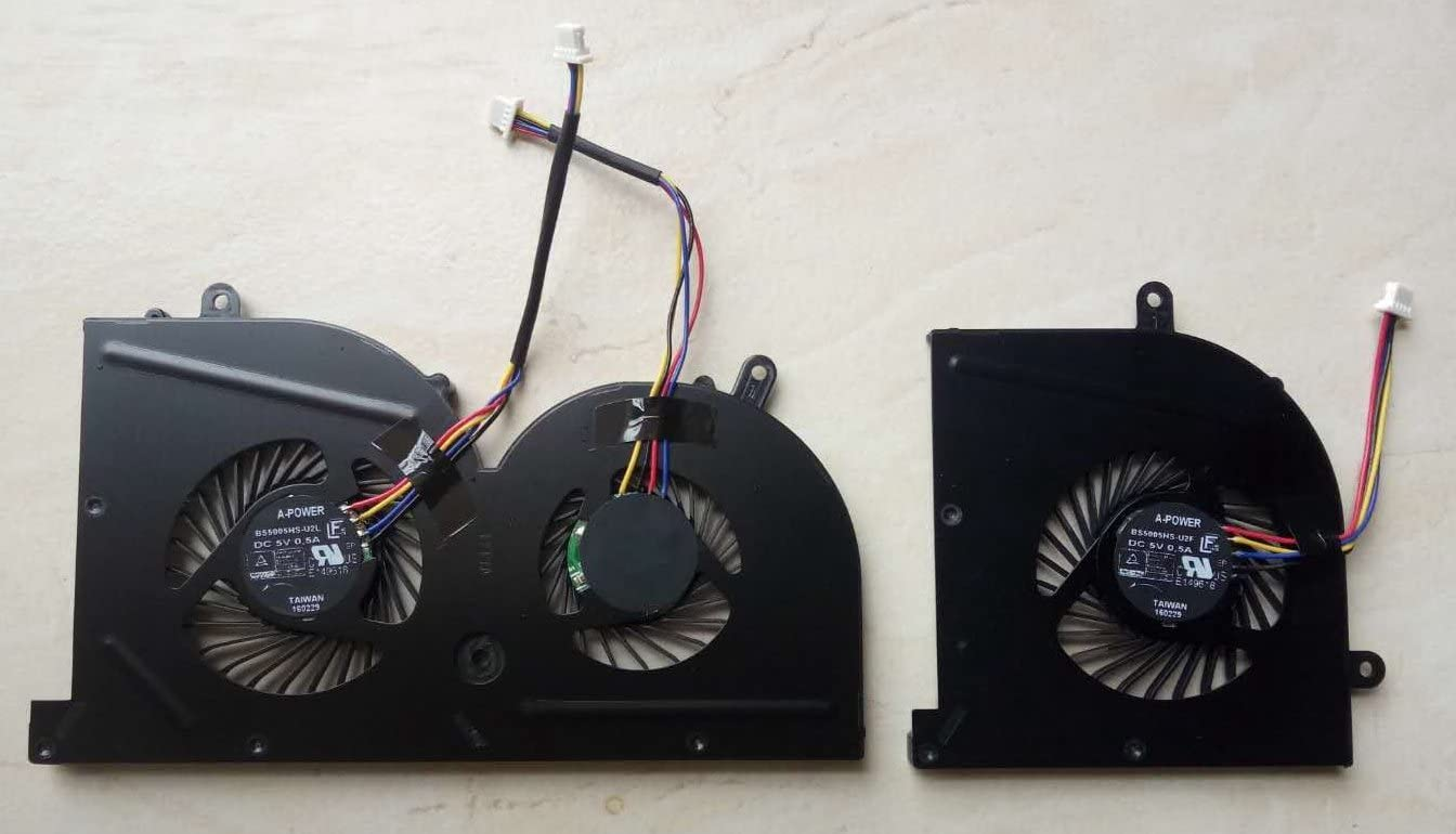 Original New GPU Cooling Fan for MSI GS63VR GS73VR Stealth Pro BS5005HS-U2L1
