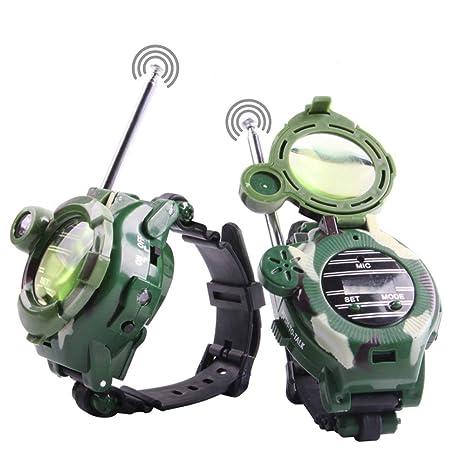 Mokiki Walkie Talkie Watches for Kids, Two-Way Long Range Radio  Transceiver, Digital Wrist Walky Talky Wrist Watch Outdoor Interphone with  Flashlight,