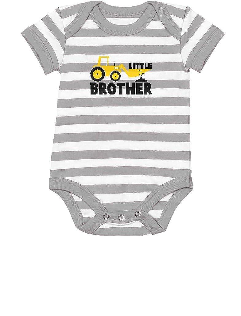 Tstars Little Brother Tractor Loving Boys Baby Onesie
