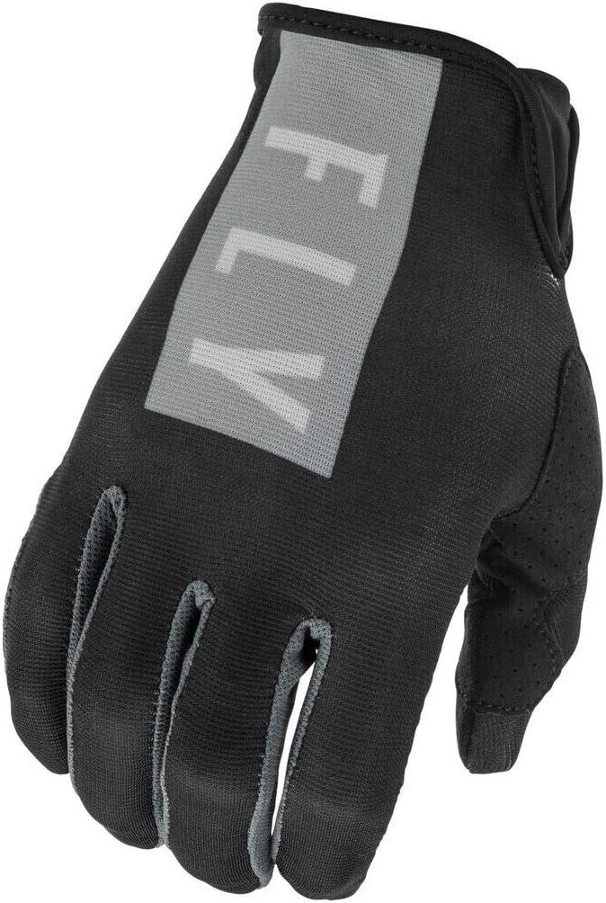 Medium Black//Grey Fly Racing 2021 Womens Lite Gloves