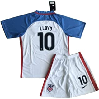 b592406b78a Kids Carli Lloyd  10 USA National Home Jersey and Shorts for Kids Youth (