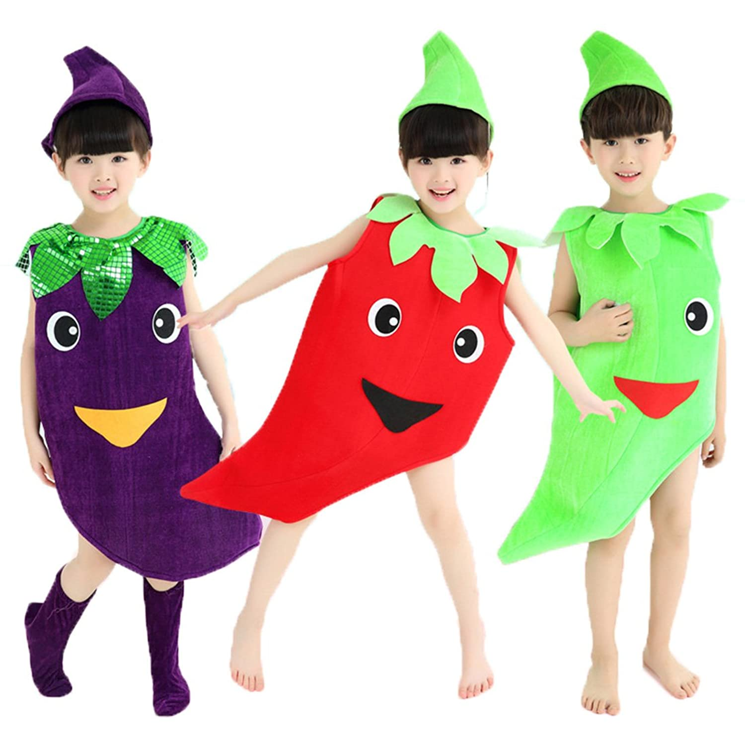 amazoncom halloween costumes childrenadult vegetables clothes pepper eggplant clothes clothing - Clothes Halloween
