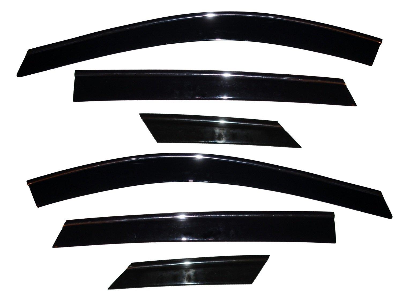 Auto Ventshade 796003 Low Profile Ventvisor Side Window Deflector with Chrome Trim, 6-Piece Set for 2010-2017 Cadillac SRX