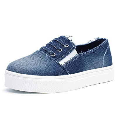 FIRENGOLI Women's Casual Sneakers Slip On Canvas Loafer Fashion Lazy Flat Shoes   Loafers & Slip-Ons