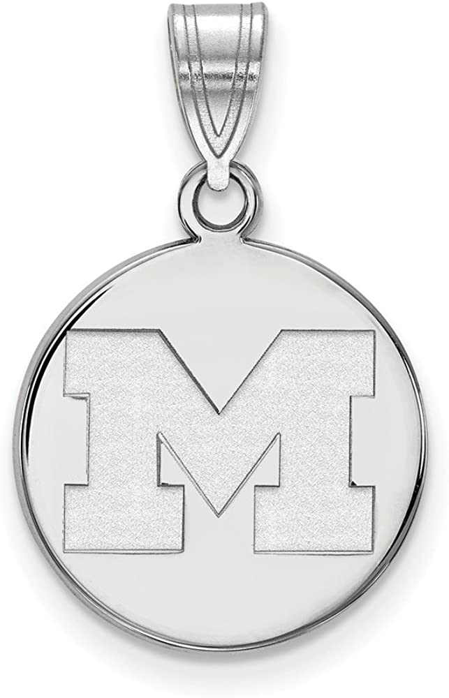 925 Sterling Silver Rhodium-plated Laser-cut University of Memphis XS Bead Charm