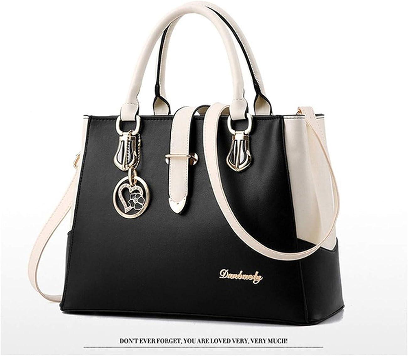 Bigsweety Womens Tote Handbag PU Leather Shoulder Bag Tassel Pendant Purse Messenger Crossbody Bag