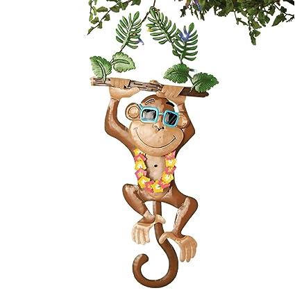 Sensor de movimiento Luau dibujos fiesta Tropical diseño de mono
