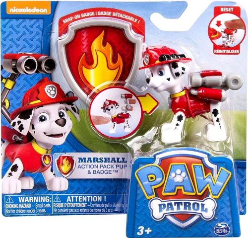 Nickelodeon, Paw Patrol - Action Pack Pup & Badge - Marshall (Paw Patrol Badges)