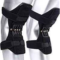 Knee Pads,Lixada- Power Lifts Joint Support Pads with Powerful Rebounds Spring Force Old Cold Leg Knee Band