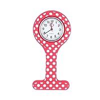 Nurse Watch - Nurse Pocket Watch Clip-on Pocket Hanging Watch Round Point Design Watch Test Watch Pocket Hanging Watch for Doctor Nurse Staff