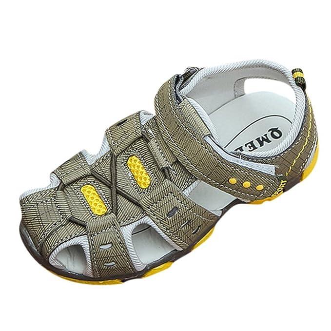 YanHoo Sandalias y Zapatillas para niños nuevos Zapatos de Entrenamiento con Fondo Blando Zapatos de Lona para niños pequeños Sandalias de Playa Zapatillas ...