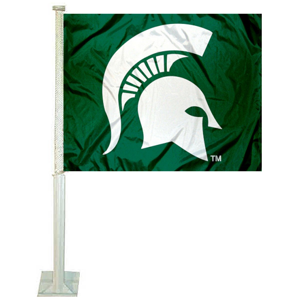 MSU Spartans Spartan Head Car and NCAA Auto Flag College Flags and Banners Co.