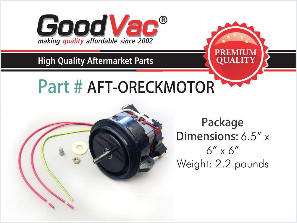 amazon com: goodvac motor for oreck upright vacuum cleaner, replaces part  number 097550501: home improvement