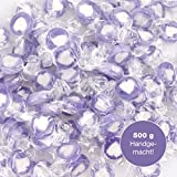 Rocks Heart Sweets Sweet Lilac White as Sweet Table Decoration at Wedding Baptism holy Communion or Valentine´s Day (500 GR) with Lilac Heart - Give Love with Hearts