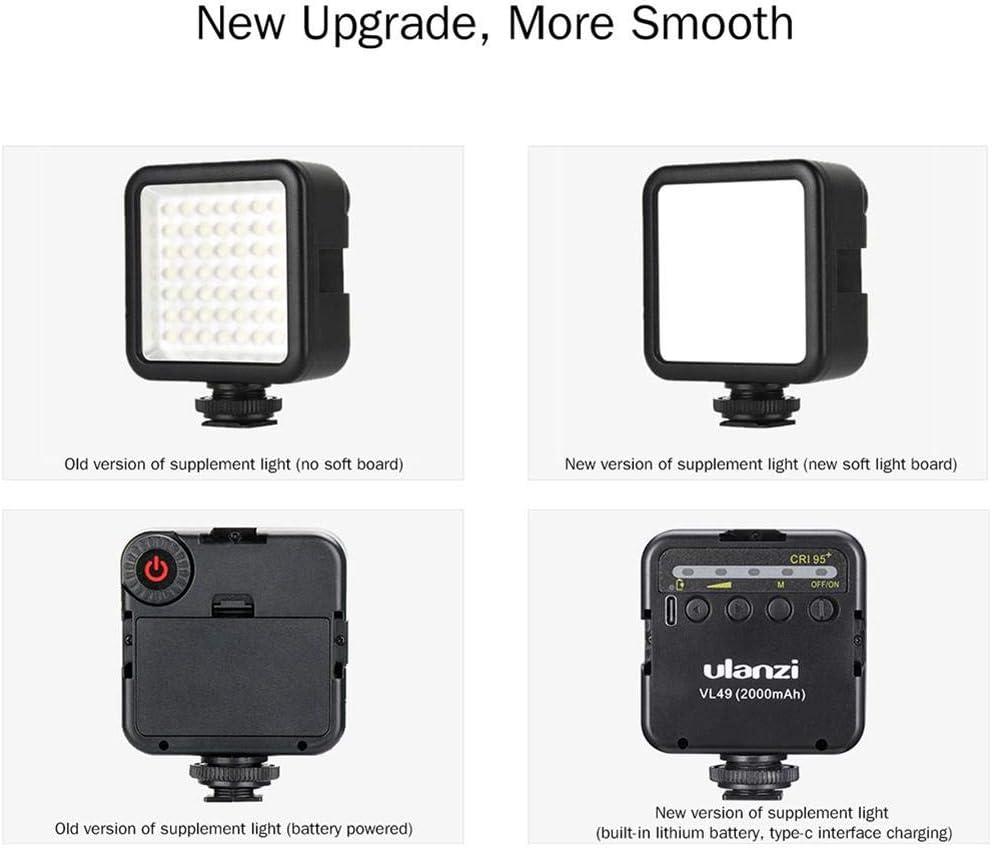 49 Bead Fill Light Lithium Battery Fill Light,led Video Light Mini Video Light LED for Ulanzi Macrophotography