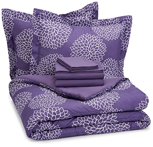 AmazonBasics 7 Piece Bed Bag Purple