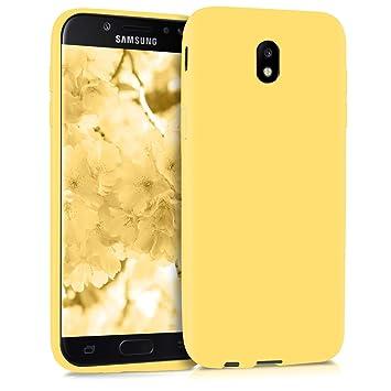 kwmobile Funda para Samsung Galaxy J5 (2017) DUOS - Carcasa para móvil en [TPU Silicona] - Protector [Trasero] en [Amarillo Mate]