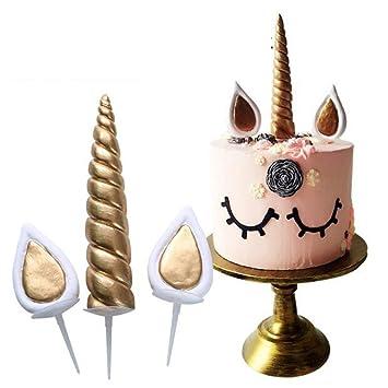 Besttse Molde De La Torta Del Silicón Del Unicornio, Sugarcraft Que Adorna Las Herramientas De La Cocina: Amazon.es: Hogar