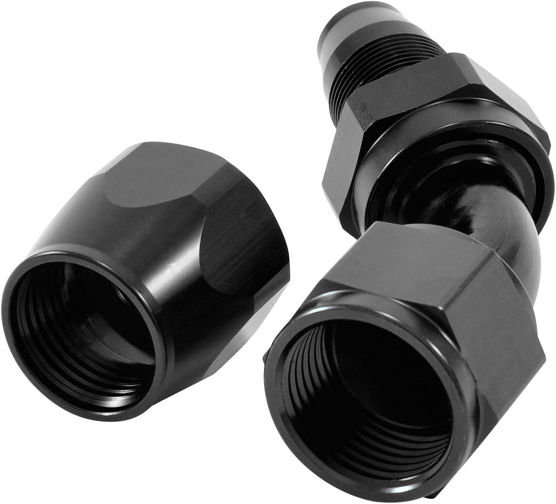 Farbe Schwarz dpPerformance Alu Fitting AN12 45 Grad 1 1//16x12UNF