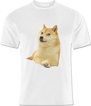 LUCKY Doge White Camiseta Para Los Hombres M: Amazon.es: Ropa y accesorios