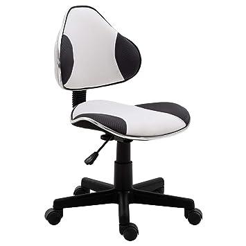 chaise de bureau réglable en grande hauteur blanc