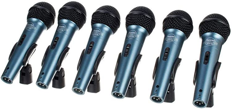 Superlux ECO88 6 Pack Set Micrófono Dinámico: Amazon.es ...