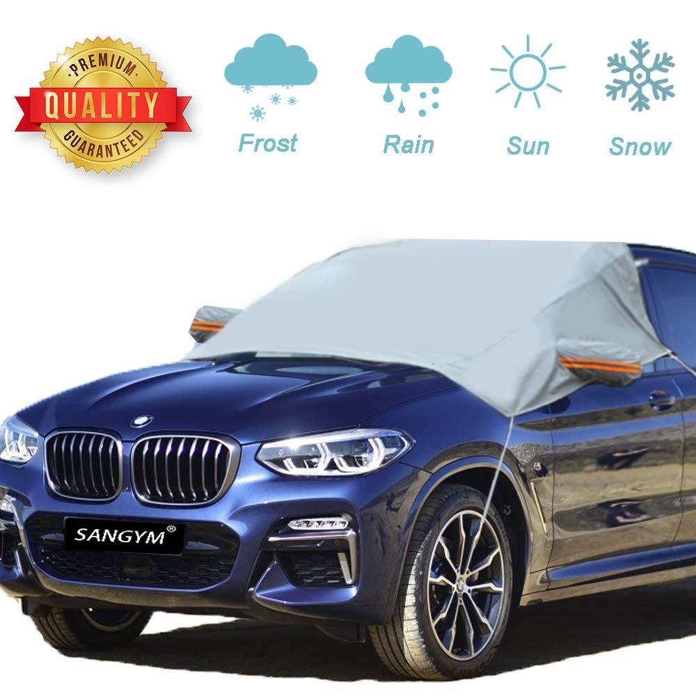 SANGYM Frontscheibe Abdeckung Faltbare Windschutzscheibe Schneeabdeckung Anti-Frost Auto Abdeckungen Anti-Schnee Wind Frost f/ür Auto Fit f/ür die meisten Fahrzeug mit Gr/ö/ße