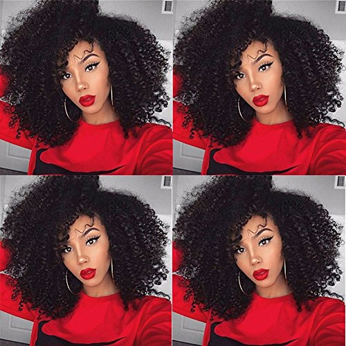 Kinky Curly Clip in Hair Extensions Natural Brazilian Curly African...