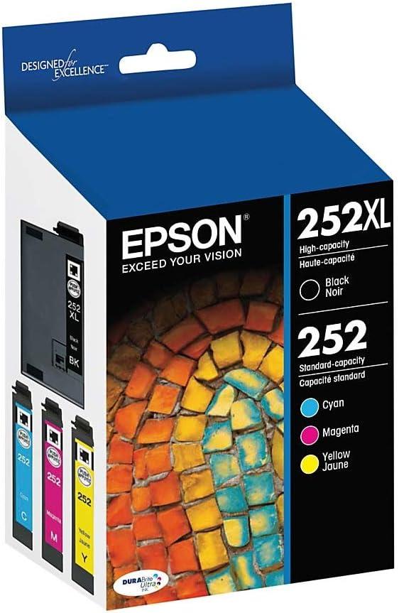 Epson GENUINE 252XL Black Ink NO RETAIL BOX for WorkForce WF-3640