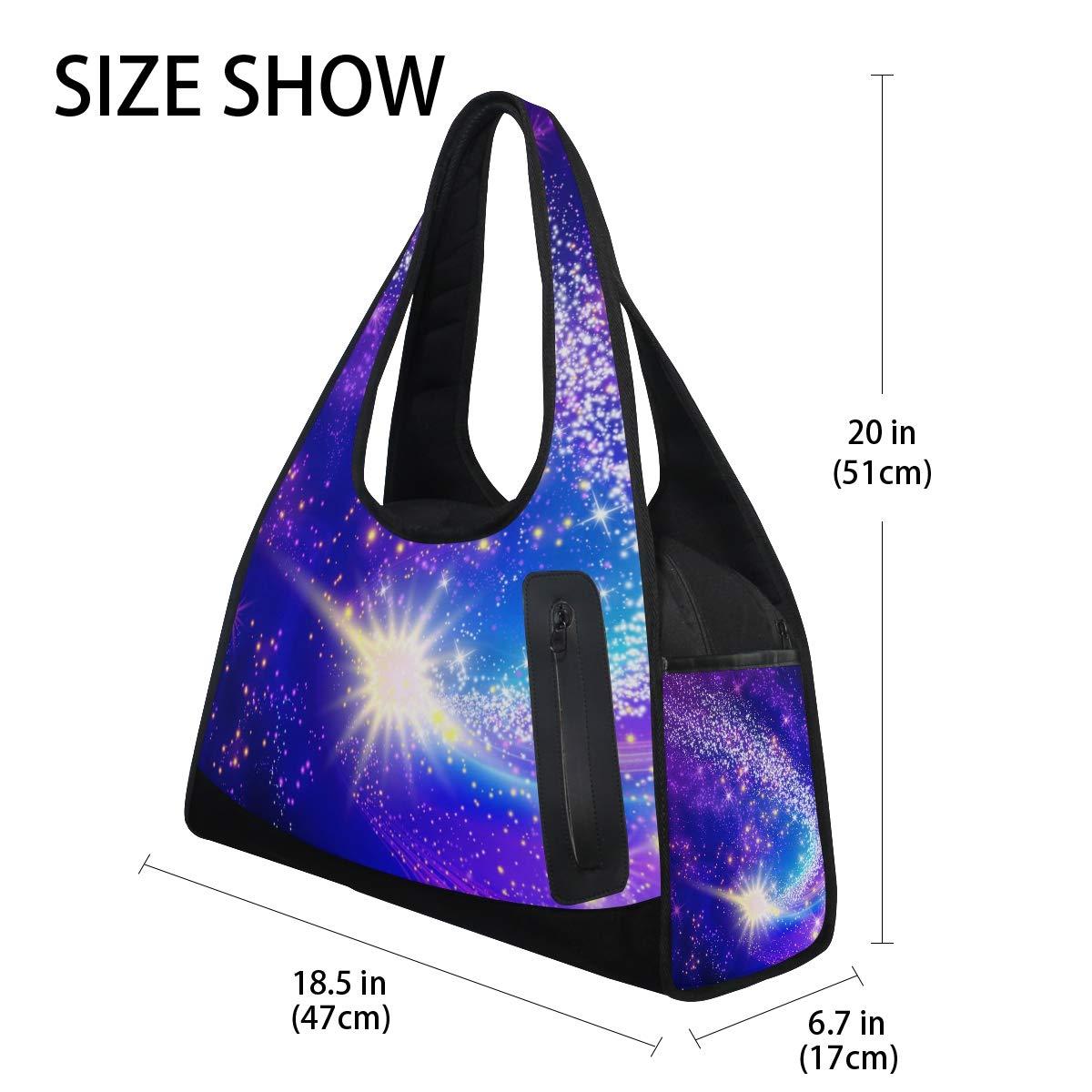 Unisex Travel Duffels Gym Bag Nebula Galaxy Glowing Stars Canvas Weekender Bag Shoulder Bag Totes bags