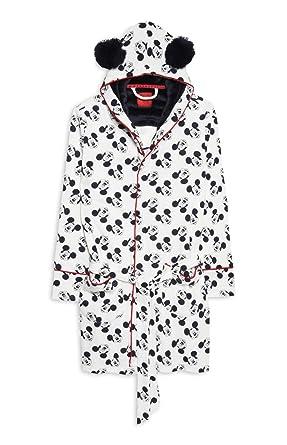 Primark Ladies Disney Mickey Mouse Dressing Gown Bathrobe Hooded