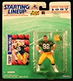REGGIE WHITE / GREEN BAY PACKERS 1997 NFL Starting Lineup Action Figure & Exclusive NFL Collector Trading Card