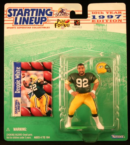 Green Card Bill - REGGIE WHITE / GREEN BAY PACKERS 1997 NFL Starting Lineup Action Figure & Exclusive NFL Collector Trading Card