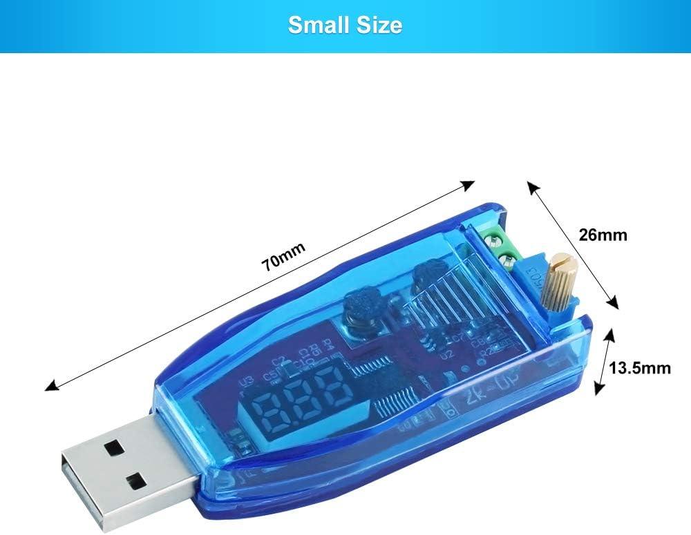 PEMENOL DC USB Step Up Down Module dalimentation avec /écran LCD Vert 5 V /à 1 V-24 V