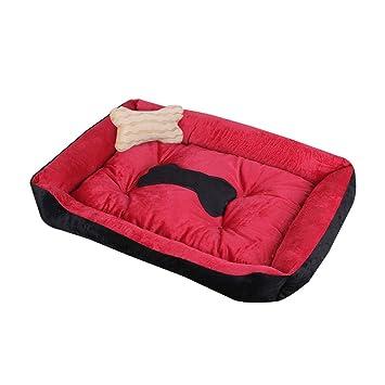 DS alfombra para mascotas Perro pequeño Tamaño mediano Alfombra para perros grande Perrera Cuatro estaciones Lobos